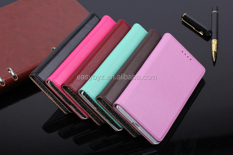 Brand New for Huawei Ascend P7 Lychee Original Leather Wallet case,stand cover with credit card slots