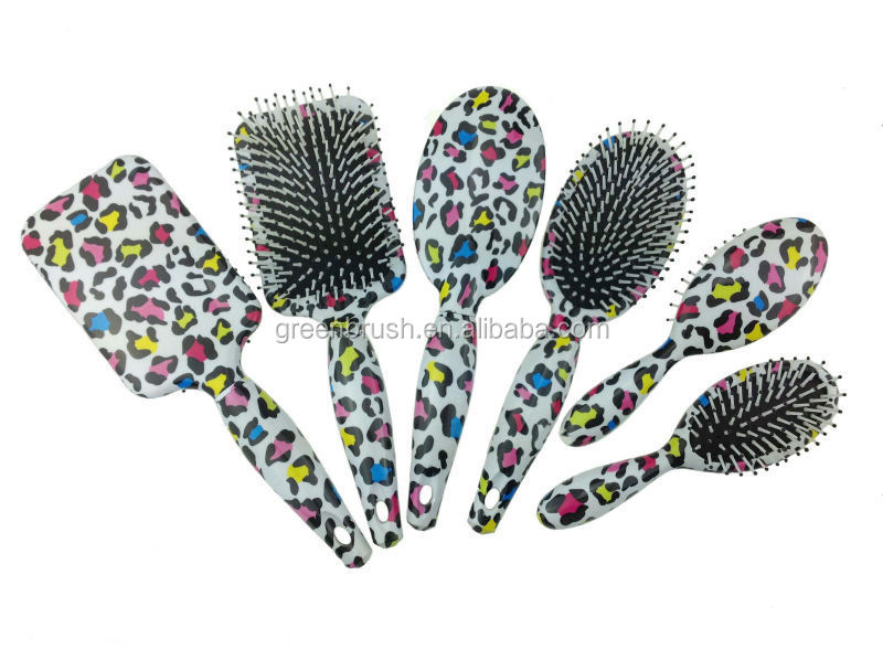 hair brush set with water transfer print