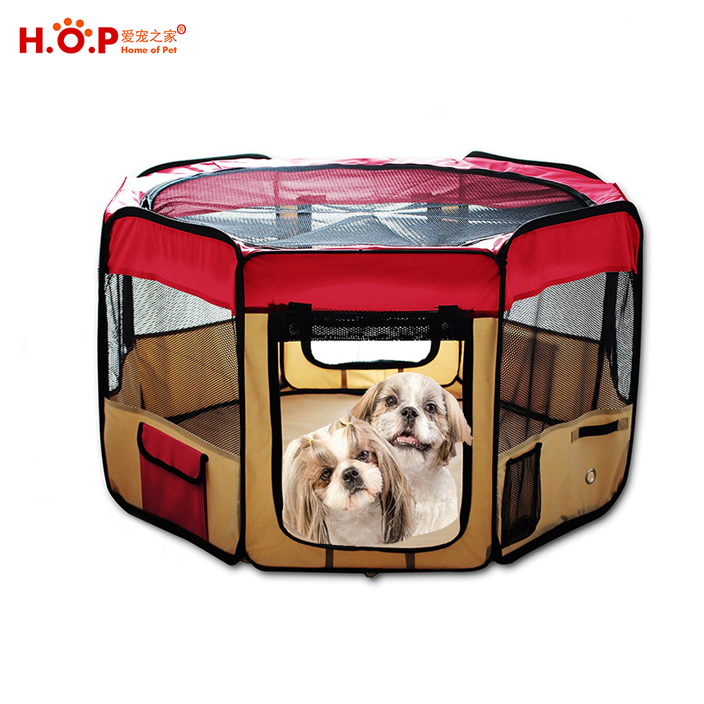 Portable Foldable Dog Fence House Puppy Exercise Pen Kennel Pet Playpen For Cat Rabbit Hamster