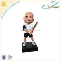 famous custom resin bobble head figurines craft