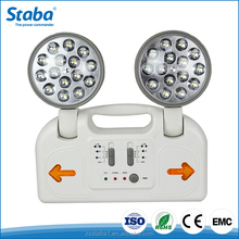 Zhongshan adjustable portable 2835 SMD LED rechargeable emergency lamp 2 head emergency light