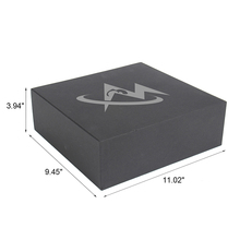 high end packaging pull out black cardboard shoe box