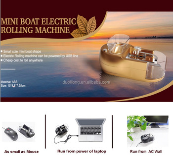 Small mini boat design Cigarette Rolling machine with AC adapter