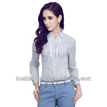 New Design Sexy Office Wear Shirts For Women,Custom Logo,t shirt wholesale china