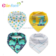 Elinfant 4 Pack Gift Set Toddler Triangle Scarf Dribble baby bib Baby Bandana Drool Bibs