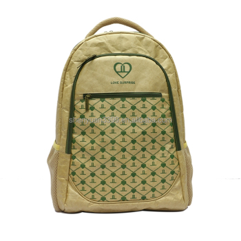 2016 alibaba best sellin topgood brand cheap recycled paper tyvek backpack environmental unisex tyvek paper handbag