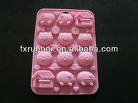wholesale pig and home rabbit carrot silicone mold fondant sugar paste 3d chocolate mould cake decorator