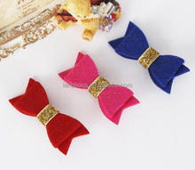 Cheap Multi Colors Felt Hair Bows 100% Wool Felt Bow for Baby Decoration