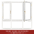white modern home aluminium casement window frame design
