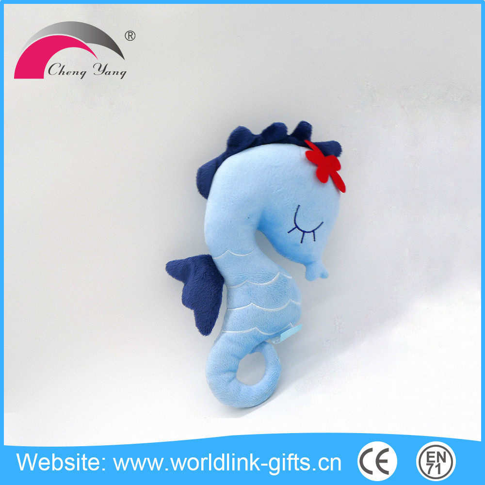High quality custom colorful soft plush sea horse fish toys,plush seahorse toys