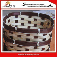 Bamboo and Rattan Tray Baskets