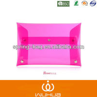 transparent pvc evening clutch bags