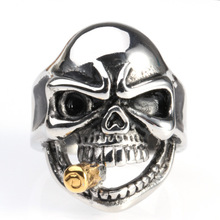 2018 Fashion Jewelry New Design Skull Head Ring Accessories For Jewelry Making For men Bulk Buy From China
