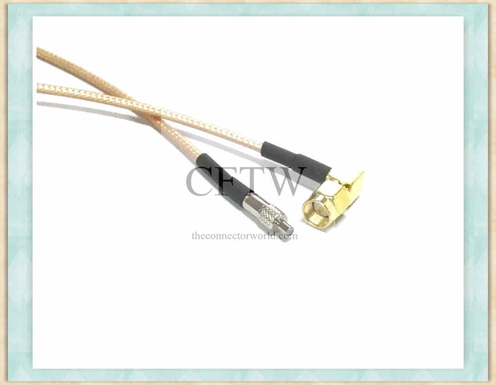 Factory Direct Angle SMA Male Internal Screw Inner Pin to TS9 Female for RG141 Cable (300cm)