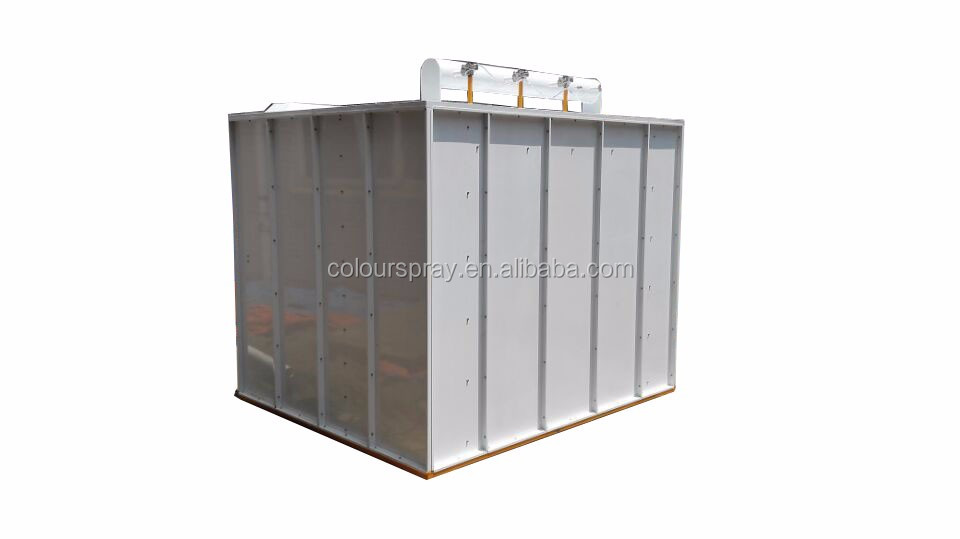 China ground type manual powder coating spray painting booth