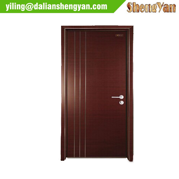Simple modern painted main door design wood bedroom door for Simple wooden front door designs