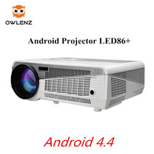 Android 4.4 portable led projector LED86+ FULL HD movie theater projector