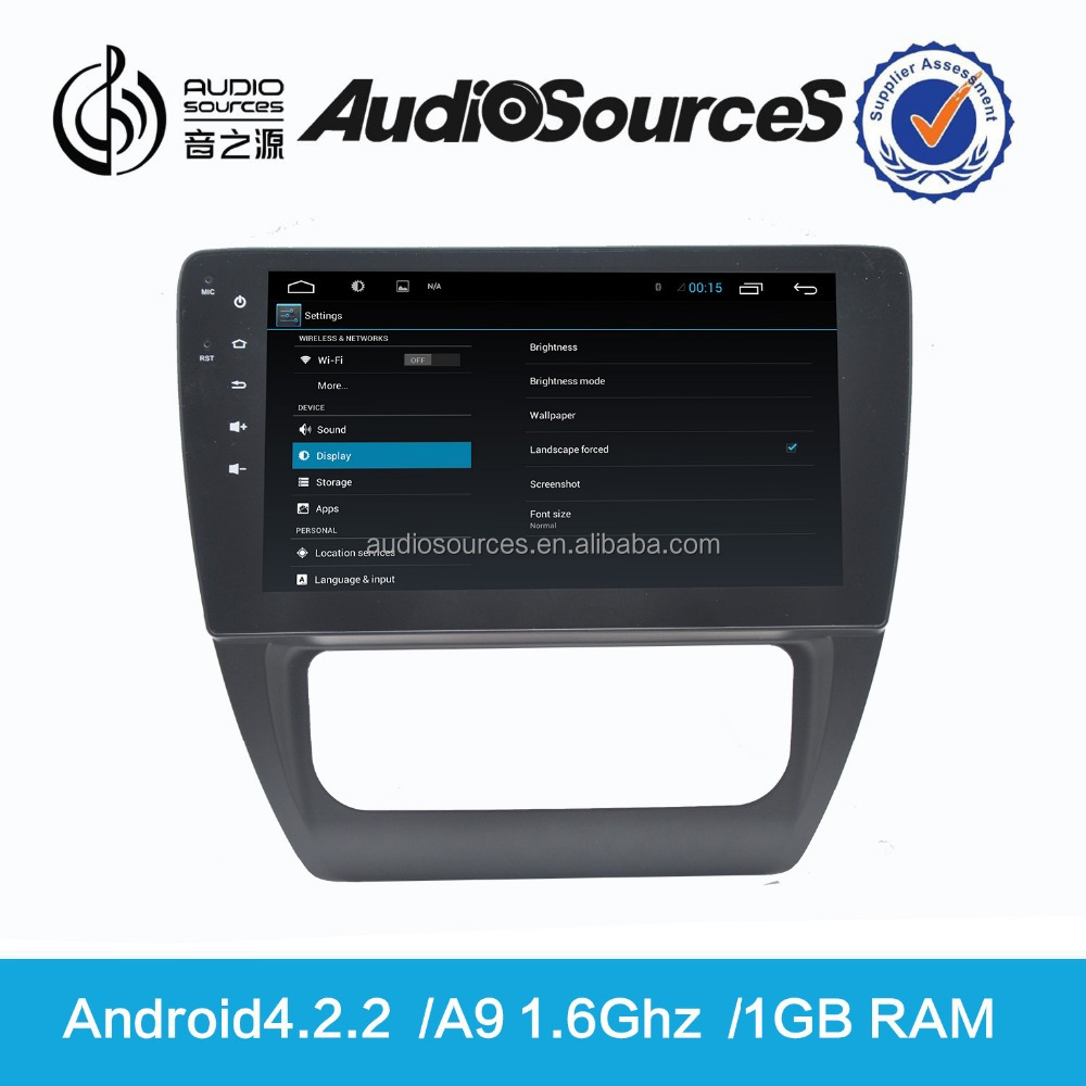 Audiosources HD android car dvd with gps navigation for vw sagitar with rearview camera ,ops