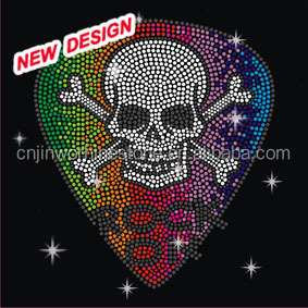 Beautiful rhinestone transfer designs Skull Baseball bats ball S 1 (109)
