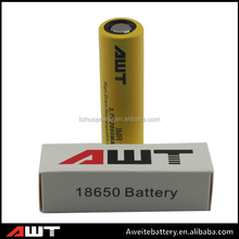 China wholwsale AWT 18650 2000mah 30A lifepo4 12v 200ah battery pack import batteries for ecig case