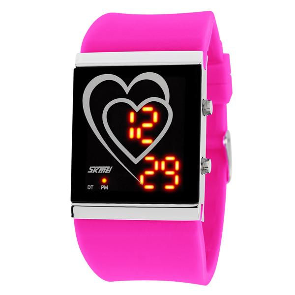 Over the world hot selling fashion vintage led watch
