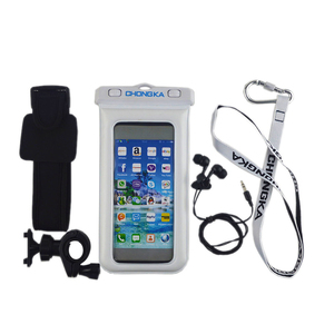 Outdoor Sports Armband + earphone 100% Waterproof Bags Underwater swim for Cell Phone