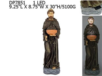 "30""h Polyresin St. France Statue"