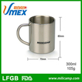 High quality 300ml stainless steel short travel mug unique travel mugs