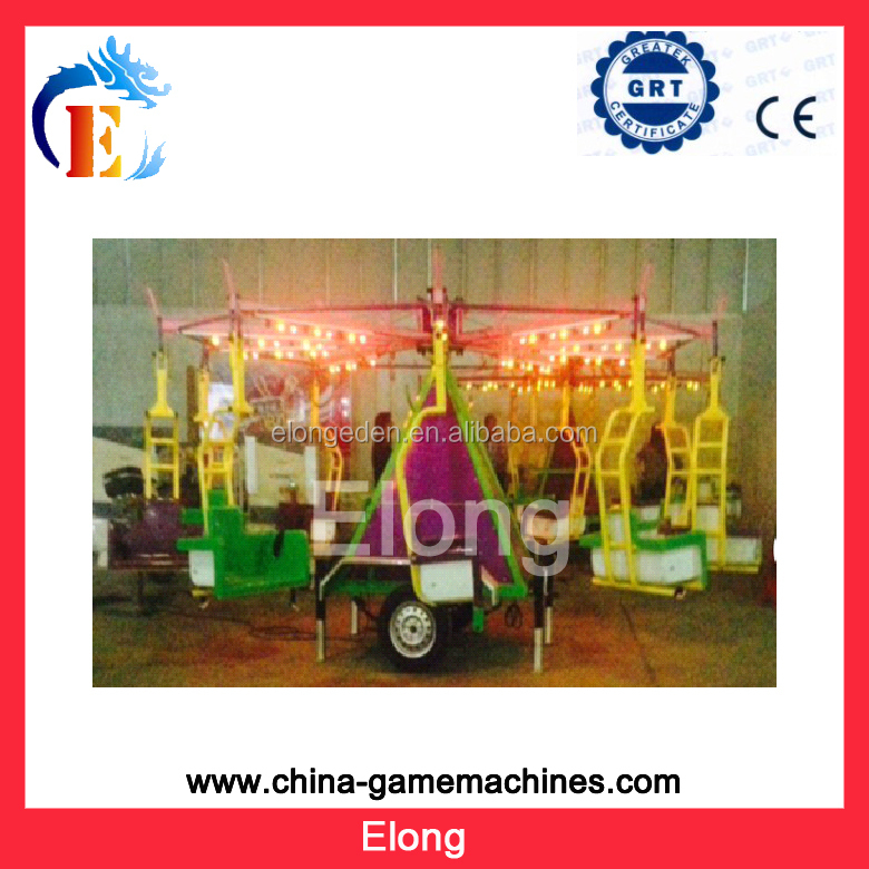 Attraction amusement park rides small flying car for kids