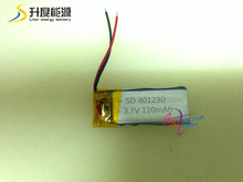 SD401230 3.7V 110mah Polymer lithium battery 401230 for Electronics battery wireless devices, Bluetooth devices battery