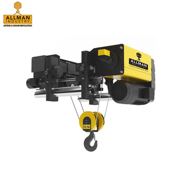 ALLMAN M5/2m class 5ton 30' lift 3P single girder wire rope hoist with motorized trolley