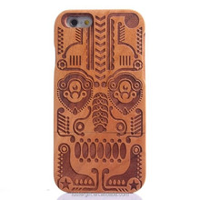 Customize Wooden engraving cell phone case for iPhone 5S SE 6 6S