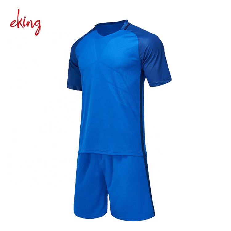 Sublimation cheap football uniforms high quality man soccer jersey set