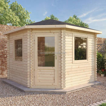 New design of easily assembly prefab wooden summer house with good price