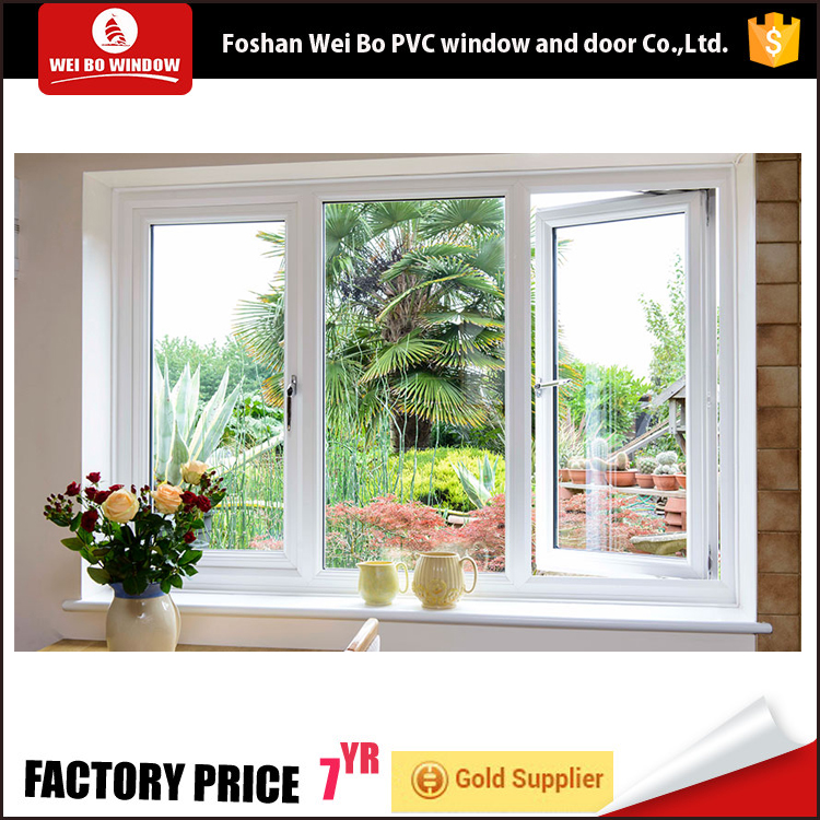 pvc energy saving double glazing casement window low price window