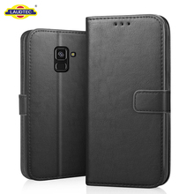 PU Leather Folio Flip Wallet Cover Book Design Case For Samsung Galaxy A8 2018