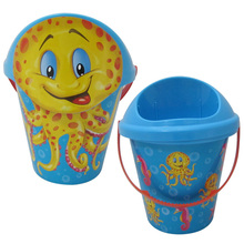 best selling manufacturers 18.5CM plastic sand bucket beach toy