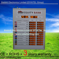 purchase foreign currency /BT12-72L92H-R Indoor used LED Exchange Rate Board (Red)