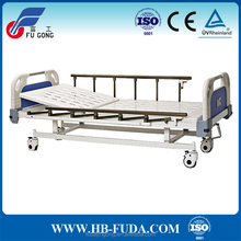Hot sale medical bed with collapsible guard rails