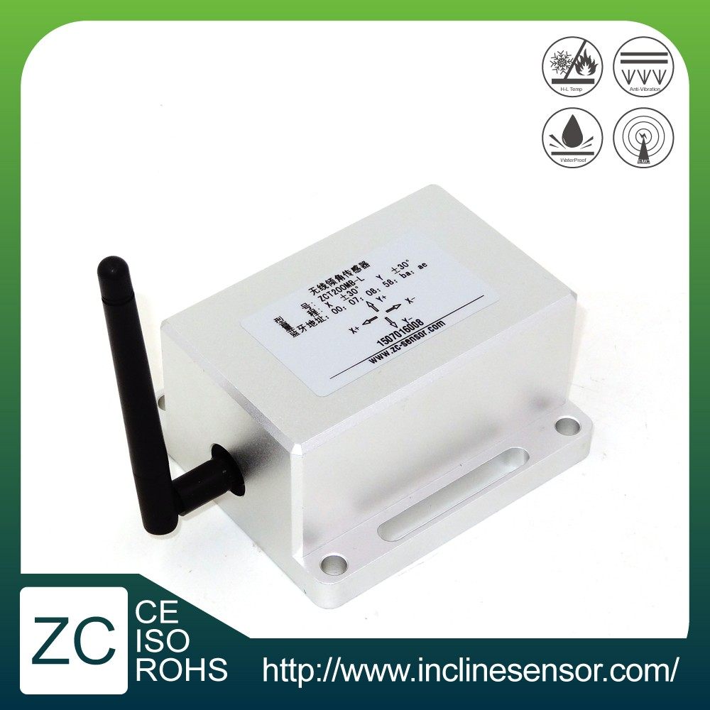 Bluetooth wireless inclinometer sensor for angle monitoring (ZCT200MB-L)