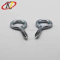 Chinese manufacturer Oukailuo Different sizes of carbon steel eye hook screw with zinc plated