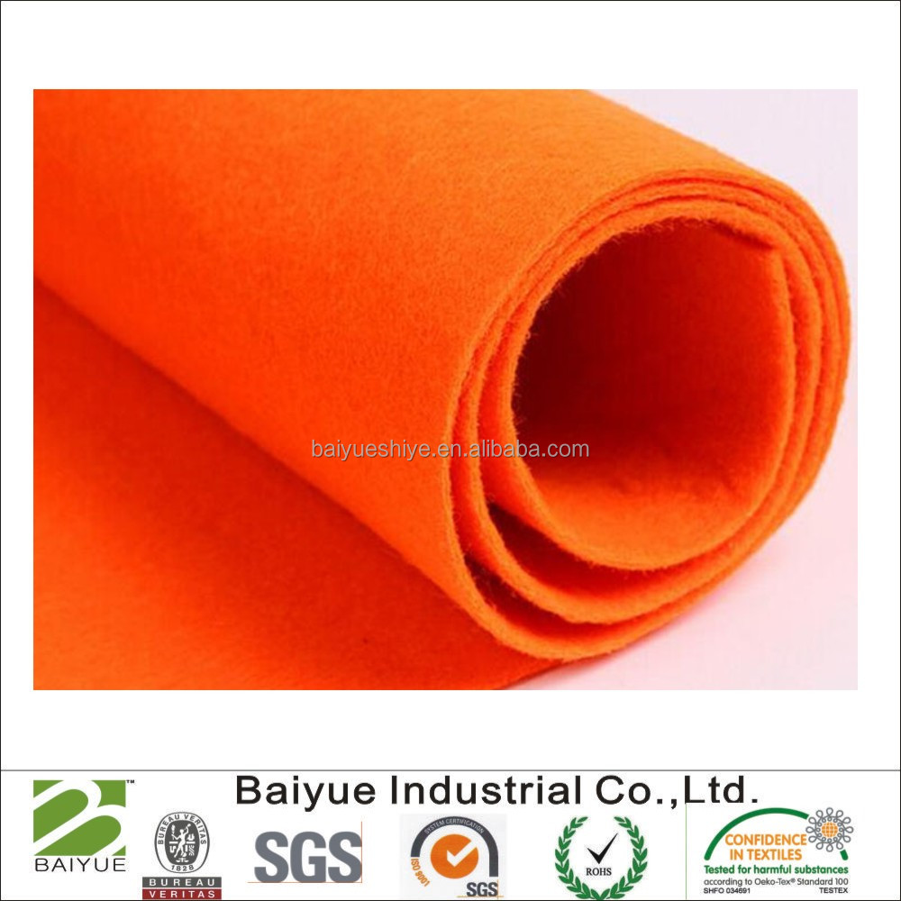 Multicolor wool felt with low price in roll