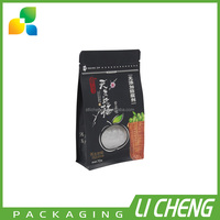 High quality flat bottom kraft paper snack packaging bag