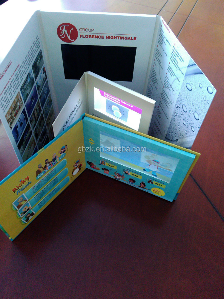 7 Inch Video Brochure/blank greeting card making