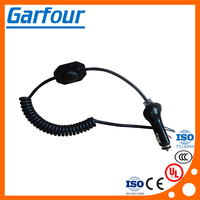Wholesale car cigarette lighter with on off switch and spring cable in china