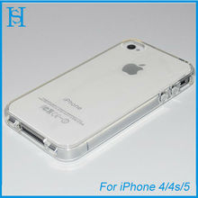 Crystal shell waterproof soft tpu case for iPhone 4 4s
