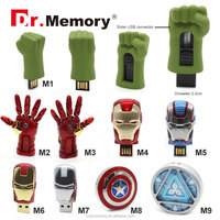 Dr.memory hot sale the avengers series usb flash drive Iron man energy ring captain america sheild memory card usb flash