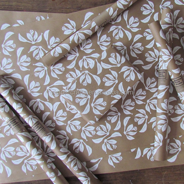 Victor Crafts Gravure Printing kraft paper machine wrap gift paper Floral Wrapping Paper, Kraft Wrapping