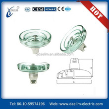 Air powered 120kn disc insulator suspension glass insulator