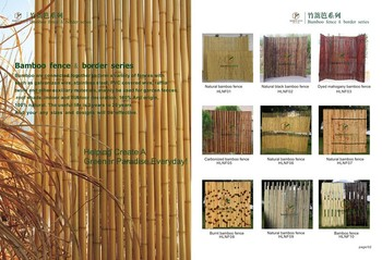 natural folded bamboo edging